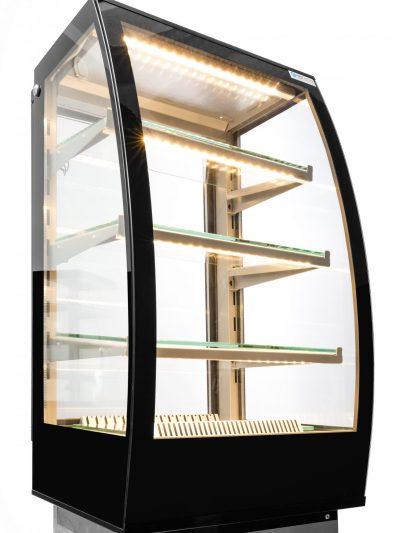 Witryna cukiernicza CAMIL z agregatem chłodniczym wewnętrznym