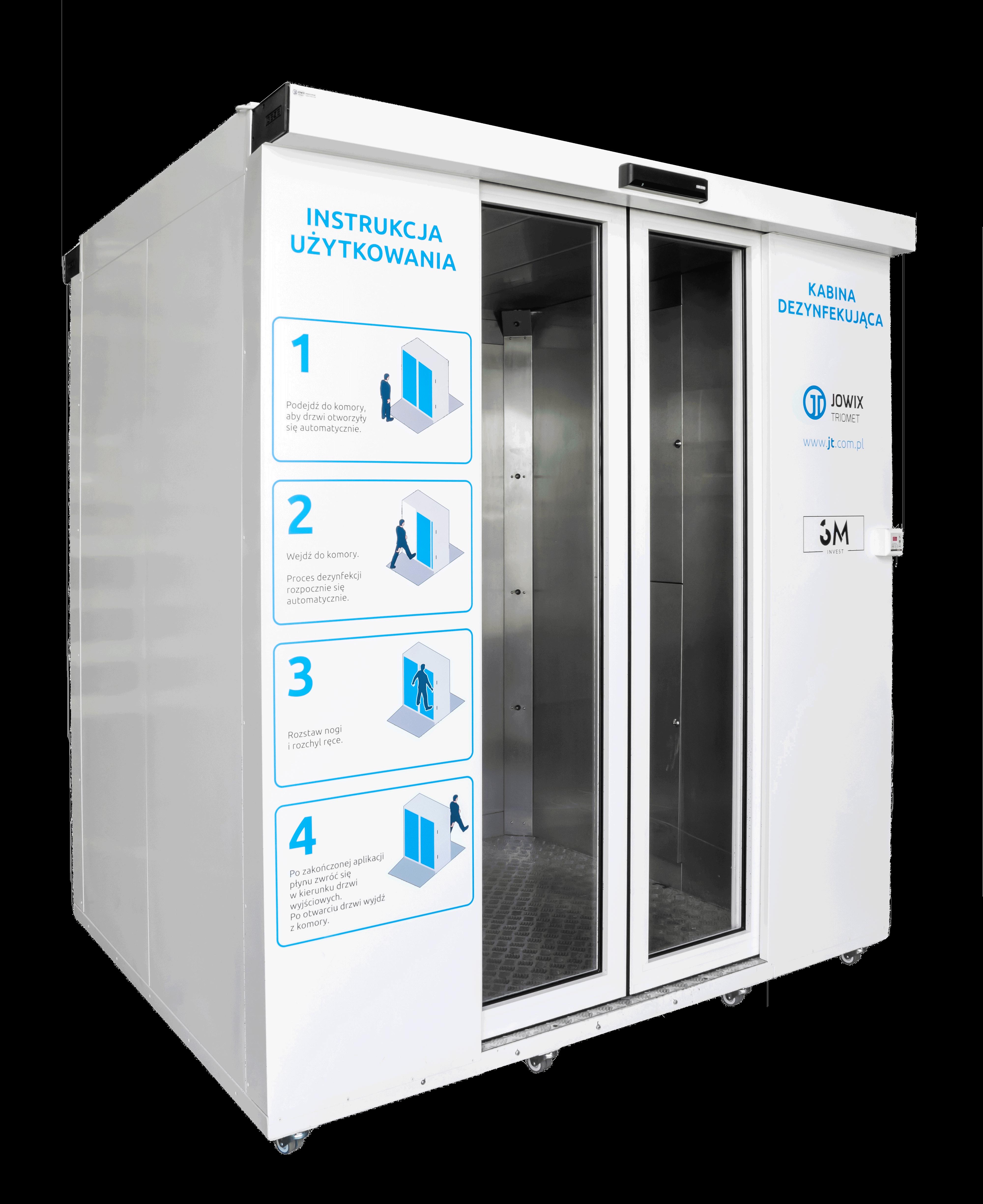 Automatyczna, mobilna kabina dezynfekująca EPIDEMIC 1