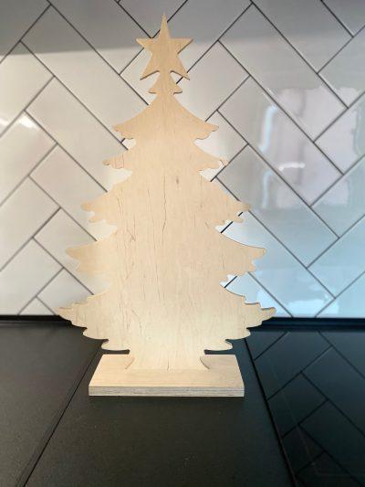 ozdoba świąteczna ze sklejki - choinka