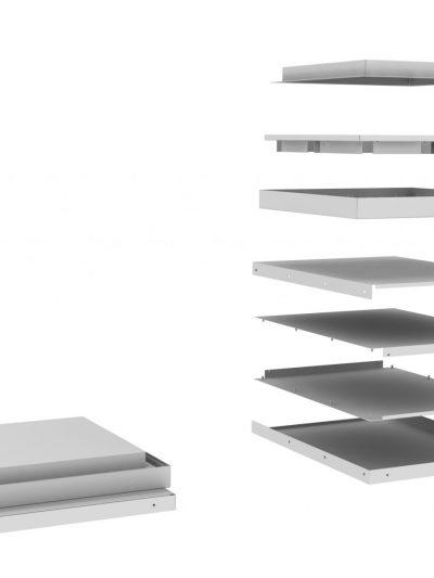 Kosz metalowy do segregacji w układzie kwadratowym do segregacji w układzie kwadratowym do samodzielnego montażu