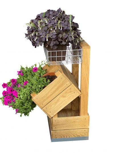Stojak dębowy na kwiaty 3