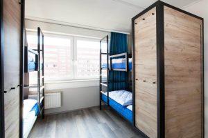 metalowe łóżko piętrowe dla hosteli