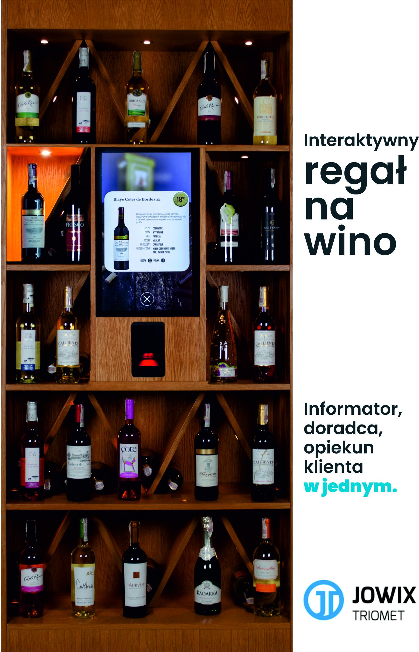 regał na wino interaktywny