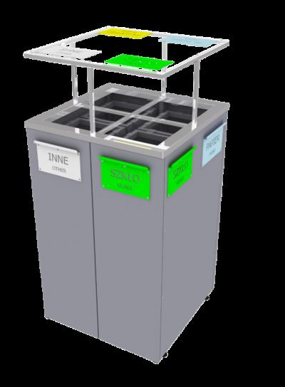kosz na odpady kwadratowy zewnętrzny