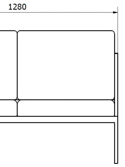 siedzisko podwójne - wymiary gabarytowe